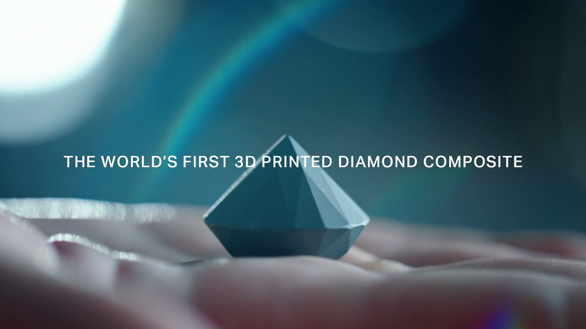 The world's first 3D printed diamond composite — An
